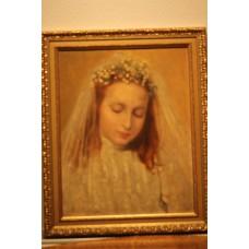 Painting. Stockum, F (20ᵉ century) Oil on panel. Bride