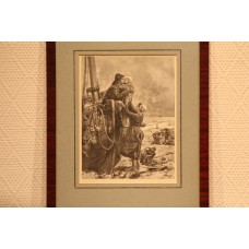 J.J. Mesker to Beyle. Print, in frame, (19ᵉ century) Fisher Family at boot