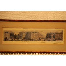 (19ᵉ century) Litho in Frame  Short-Voorhout Tournooiveld