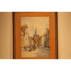 Blanc  J le (19ᵉ / 20ᵉ century), watercolor in frame  Cityscape with Port
