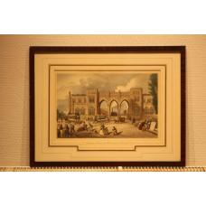 (19ᵉ century) Litho in frame  Rotterdam station