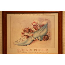 Beatrix Potter (20ᵉ century) Etching in frame  Mice in a shoe