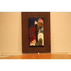 (20ᵉ century) Color Enamel on wood  Houses