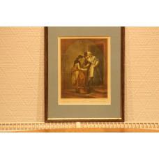 (20ᵉ century) Print in frame new mackerel