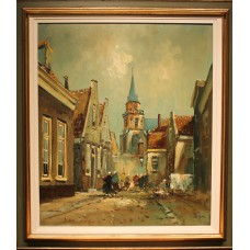 Hermans (19ᵉ-20ᵉ century) Hermans Oil on canvas in frame Jacob Pronkstraat in 19ᵉ century