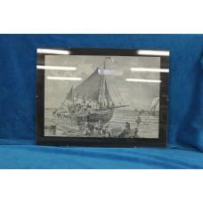 (19ᵉ century) Print in frame Unloading catch