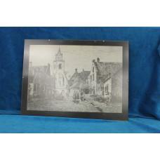 (19ᵉ century) Print in frame Jacob Pronkstraat Scheveningen