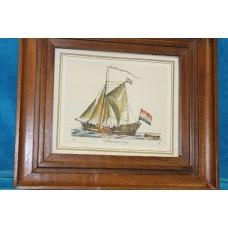 (20ᵉ century) Print in frame Admiraal jagt