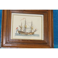 (20ᵉ century) Print in frame East India Company ship