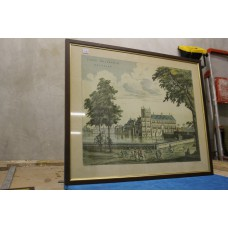 Staalstadt Jan (20ᵉ century) Color Lithograph in frame Hofvijver in 1885