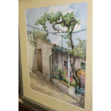 Bennekom O L (20ᵉ century) in Watercolor frame with glass House with tree