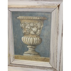 (20ᵉ century) print in frame with glass Roman vase