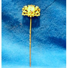 Gold (19ᵉ century) Tie-pin Tie-pin with Haagse Stork and diamond