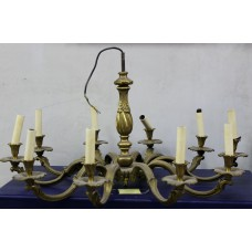 Bronze/Lamp Gold-plated ceiling Crown with twisted trunk