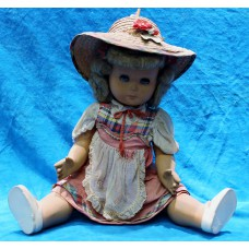 Athena Doll (1ᵉ half 20ᵉ century) Young lady with sound and with straw hat