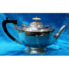 Silver (20ᵉ century) English Art Deco 3-piece tea set Sheffield