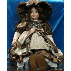 Doll (20ᵉ century) Girl dressed up with shoes and hat with rose