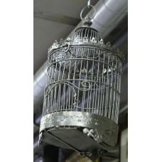 Iron (20ᵉ century) Polished bird cage