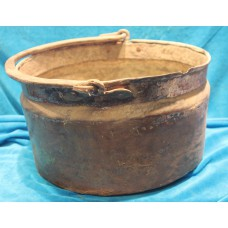 Copper (19ᵉ century) Large fire cauldron with handle