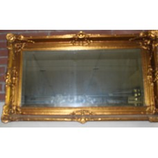 Mirror (19ᵉ century) Furniture With cut glass in gilded decorated frame