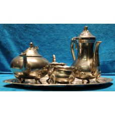 Stainless Steel (20ᵉ century) 4 piece coffee tea set