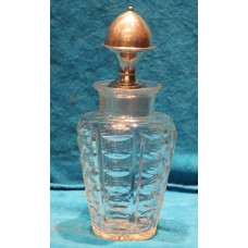 Crystal with silver (19ᵉ century) Vinegar bottle with silver stopper
