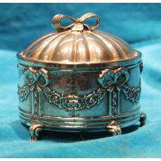 D J Aubert & Zn Silver (20ᵉ century) Reuge music box