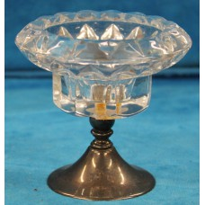 Crystal with Silver (19ᵉ century) Candlestick with silver base