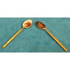 Enamel (19ᵉ century) Enameled gilt spoons