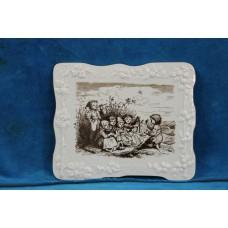Meissen Pottery (1979)Plaque with decor Children Musicians