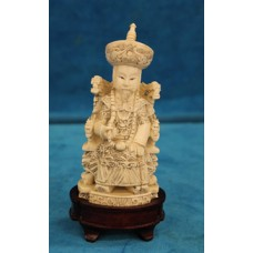 Chinese Ivory (end 19ᵉ century) Emperor on his seat