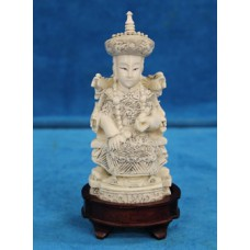 Chinese Ivory (end 19ᵉ century) Empress at her seat