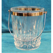 Crystal Stainless Steel (20ᵉ century) Ice bucket with handle