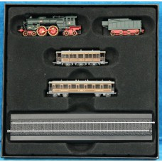 Atlas Edition (20ᵉ century) Toys Mini Train with locomotive and wagons in original box