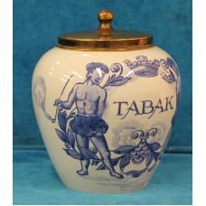 Handpainted Blue Pottery Holland Polychrome (20ᵉ century) Tobacco pot