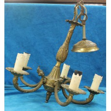 Copper (20ᵉ century) 5-arm lamp