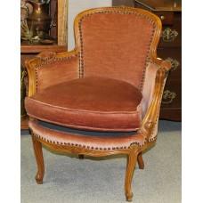 Art Deco style Wood Fabric (20ᵉ century) Furniture Armchair