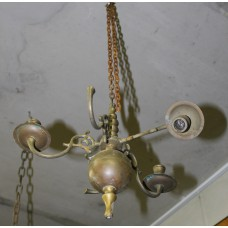 Copper (19ᵉ century) Lamp 5-arm bulb hanging lamp
