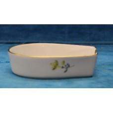 Meissen Porcelain (20ᵉ century)Ashtray Floral pattern with gilt edge