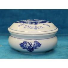 Meissen Porcelain (20ᵉ century)Lid Bowl in honor of 1000 years town of Meissen