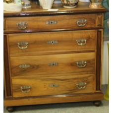 Empire Style Mahogany (19ᵉ century) Furniture 4-drawer cabinet