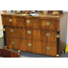 Empire Style Mahogany (19ᵉ century) Furniture 3-drawer cabinet