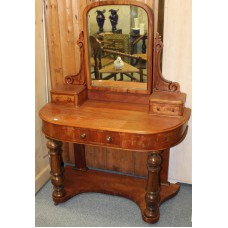 Mahogany (19ᵉ century) Furniture Side table with three drawers and rotating mirror dresser