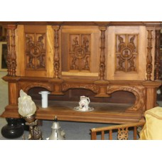 Indonesia Oak (19ᵉ century) Furniture 3-piece Indian stabbed cabinet with 4 large balvoeten carved woodwork