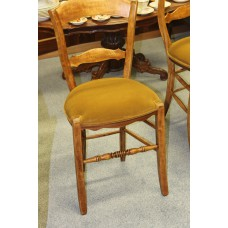 Mahogany (19ᵉ century) Furniture 4 farmers chairs with upholstered seat