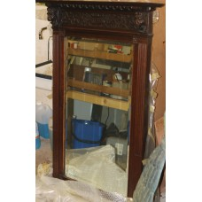 Mirror (19ᵉ century) Cut edges in Mechelen wooden frame