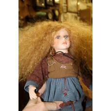 (20ᵉ century) Dolls Girls dressed in doll long brown hair and blue eyes