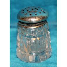 Silver and crystal (20ᵉ century) Saltshaker