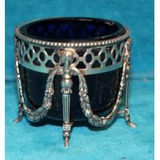 Delft silver and crystal (late 19ᵉ century) Saltshaker Biedermeier style