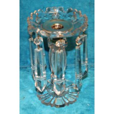 Dutch Crystal Silver (20ᵉ century) Candlestick with crystal icicles and silver candle holder